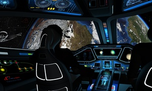 "SimCenter Tampa Bay: $36 for a 30-Minute ""Explore Space"" Outer-Space Simulator Session at SimCenter Tampa Bay ($75 Value)"