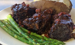 Chicago Steak & Fish: Prix Fixe Dinner with Bottle of Wine for Two, Four, or Six at Chicago Steak & Fish (Up to 32% Off)