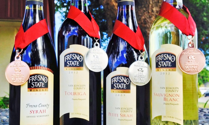 Fresno State Winery - Fresno State Winery: Three Bottles of 2008 Saviez Syrah or Four Assorted Bottles of Wine at Fresno State Winery (Up to 43% Off)