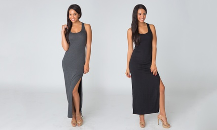 Women's Cutout Maxi Tank Dress