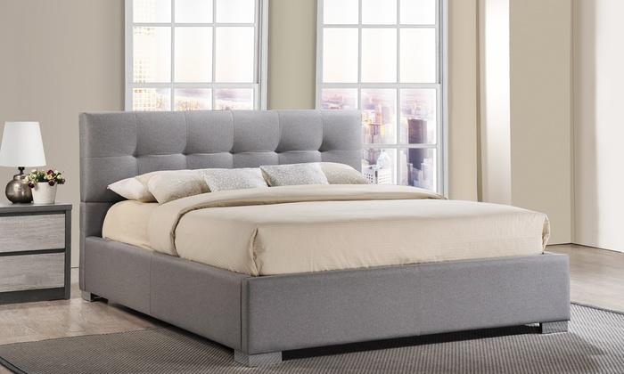 baxton studio regata upholstered platform bed baxton studio regata upholstered platform bed frame - Baxton Studio Bed