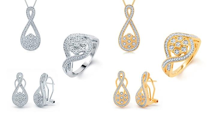 Genuine Diamond Jewelry Sets with Ring, Earrings, and Pendant: Genuine Diamond Jewelry Sets with Ring, Earrings, and Pendant. Multiple Styles Available. Free Returns.