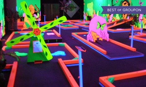 Glowgolf: Three Games of Mini Golf for Two, Four, or Six, or Mini Golf and Laser Maze for Two at Glowgolf (Up to 48% Off)