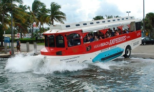 Miami Pirate Duck Tours: $25 for a Weekday Boat & City Amphibious Trolley Duck Tour from Miami Pirate Duck Tour