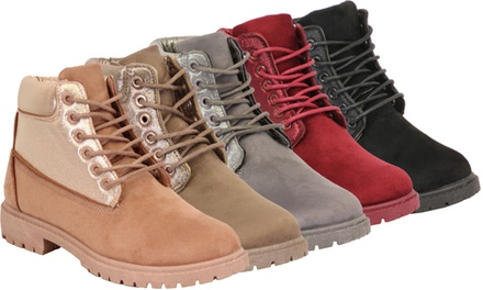 Women's Suede-Look Work Boots