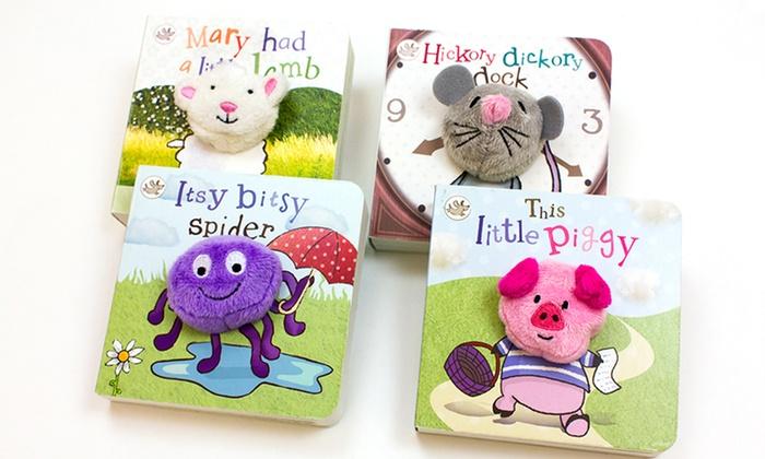 Nursery Rhyme Finger Puppet 4 Book Bundle