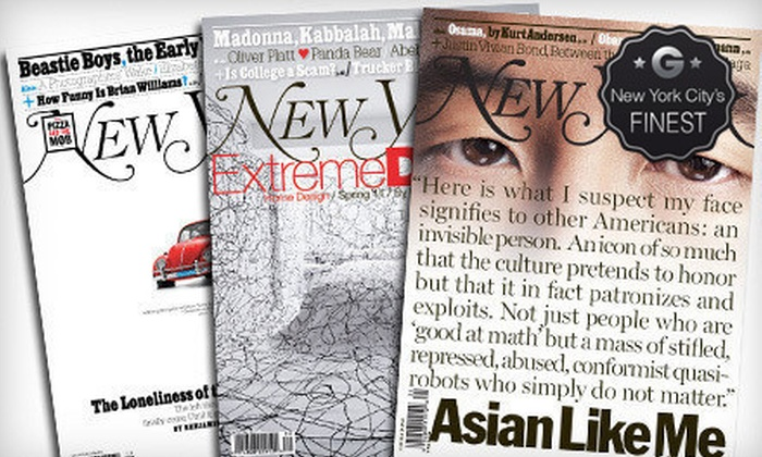 """""""New York"""": One- or Two-Year Subscription to """"New York"""" Magazine (Up to 53% Off)"""
