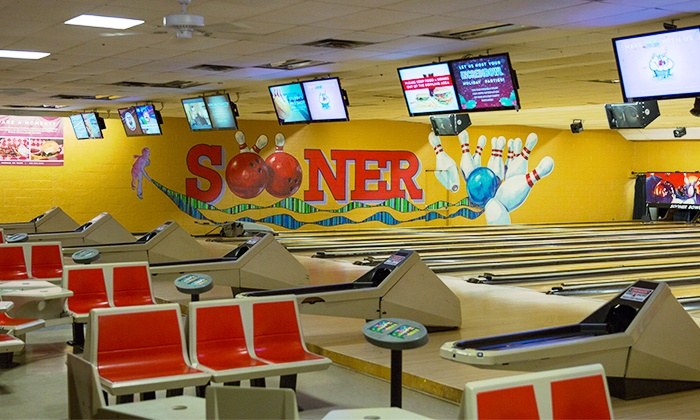 Sooner Bowling Center - Norman: $39 for a 90-Minute Bowling Package for Up to Six at Sooner Bowling Center ($68.50 Value)