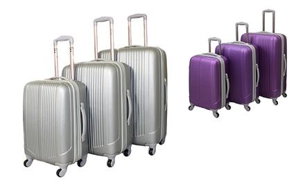 World Traveler Argo 3-Piece Expandable Hard Sided Spinner Luggage Set with 20