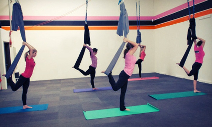 Aerie Yoga - Roseville: 10 Aerie Yoga Classes or Six Weeks aXelero Cross Training Sessions at Aerie Yoga (Up to 86% Off)