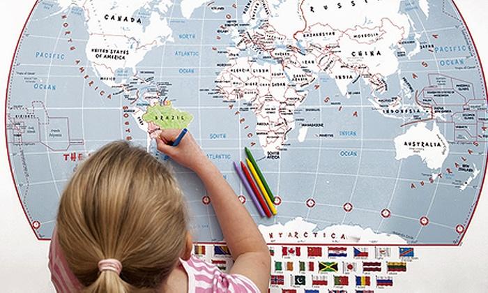 Doodle World Map Groupon