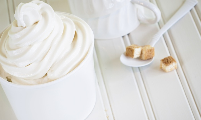 Y'OPA Frozen Yogurt - Portage: Frozen Yogurt and Toppings at Y'OPA Frozen Yogurt (Up to 45% Off). Two Options Available.
