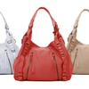 Joelle Hawkens Erin Soft, Perforated Leather Hobo Bag