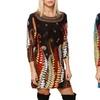 Women's Fern Print Sweater Dress