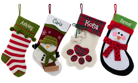 One, Three, or Five Personalized Holiday Stockings from Personalized Planet (Up to 53% Off)