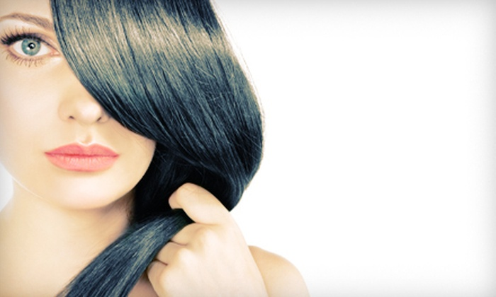 The Beauty Lounge - Carmel: Haircut Package with Style and Option of Partial or Full Highlights at The Beauty Lounge (Up to 68% Off)