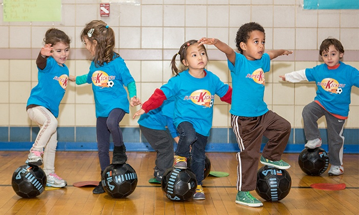 Super Kickers - Jackson Heights: 5, 10, and 15 Drop-In Kids' Soccer Classes from Super Kickers (Up to 56% Off)