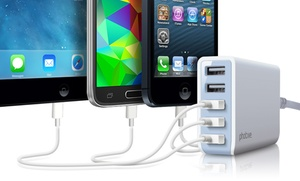 Photive Five-port 25w Usb Rapid Charger With Auto Detect Feature