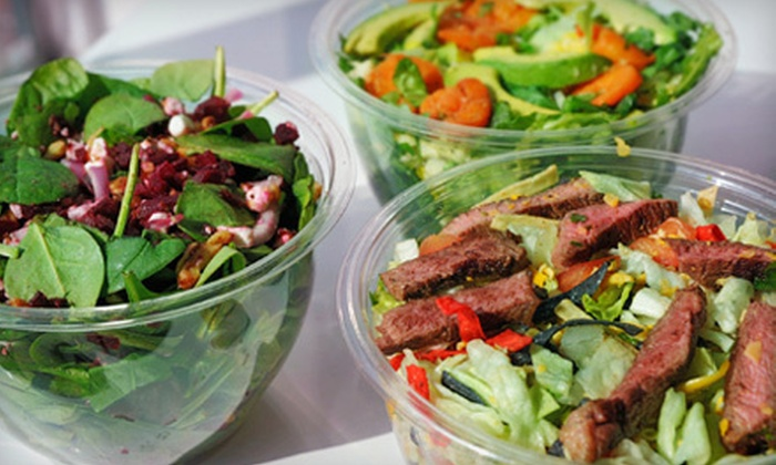 Naked Greens - South Norwalk: $12 for Two Salads or Wraps and Two Smoothies or Soft Drinks at Naked Greens (Up to $27.28 Value)