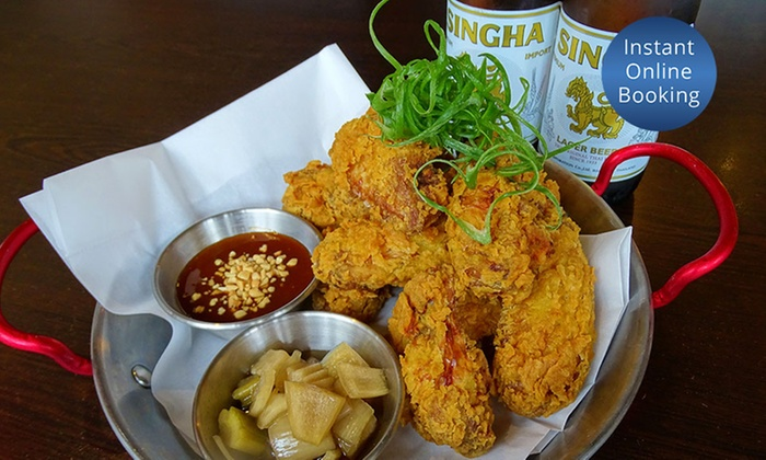 Korean Fried Chicken and Beer - Scent of Thai | Groupon