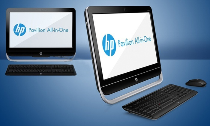"HP Pavilion 23"" All-in-1 Computer with a 1TB Hard Drive: HP Pavilion All-in-1 Computer with 4GB Memory and 1TB Hard Drive (HP 23b-244) (Refurbished)."