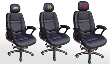 NCAA Head Coach Leather Office Chair