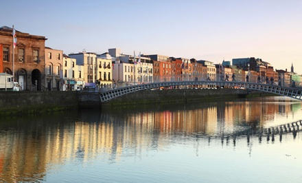 groupon daily deal - 5-Day Dublin Vacation with Airfare from Great Value Vacations. Price/Person Based on Double Occupancy.