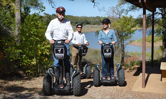 Segway Grapevine - Meadowmere: Grapevine Lake Off-Road Segway Tour for One, Two, or Four from Segway Grapevine (Up to 56% Off)