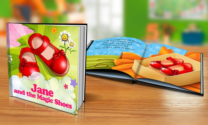 "Dinkleboo: ""The Magic Shoes"" Softcover or Hardcover Personalized Kids Book from Dinkleboo (Up to 65% Off)"