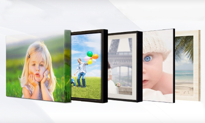 iCreate On Demand: Full-Bleed or Bordered Photo Wooden Mount or Three- or Four-Piece Canvas Set from iCreate On Demand (Up to 78% Off)