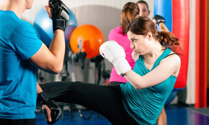 V-FIT Martial Arts & Fitness - West Arlington: 5, 10, or 20 Kickboxing Boot-Camp Classes at V-FIT Martial Arts & Fitness (Up to 56% Off)