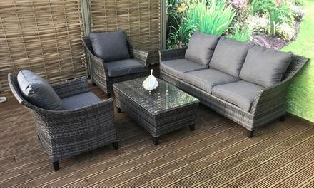 Franklin outdoor furniture set groupon for Outdoor furniture groupon