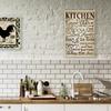 "15""x10"" Kitchen Wall Art on High-Gloss Wood"