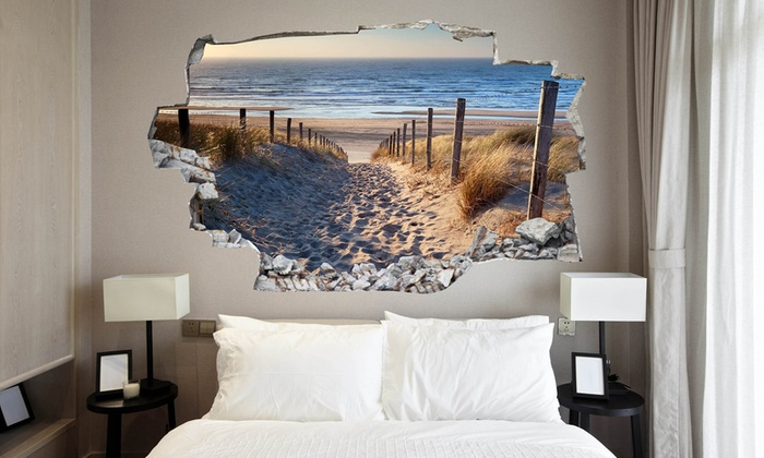 Vinyl 3d bed headboard groupon goods for 3d wandtattoo schlafzimmer