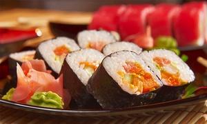 Mr Moto Sushi: 2-Gänge-Business-Lunch mit Salat oder Suppe und Sushiplatte für 1 oder 2 Personen bei Mr. Moto Sushi