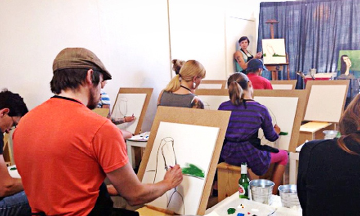 Art School Studio - Richmond: Paint and Prost Painting Class for 1 or 2 or Private Painting Party for Up to 16 at Art School Studio (Up to Half Off)