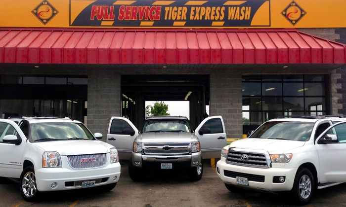 Tiger Express Wash - Multiple Locations: $23.99 for Three Exterior Black & Gold Car Washes at Tiger Express Wash ($47.97 Value)