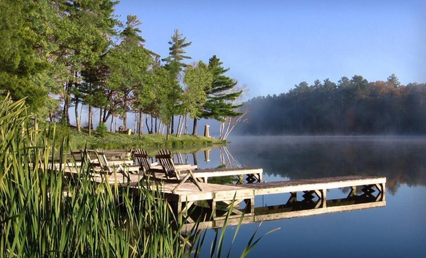 Black Bear Lodge - Saint Germain, WI: Stay at Black Bear Lodge in Wisconsin's Northwoods, with Dates into December. Up to two kids 12 or younger stay free.