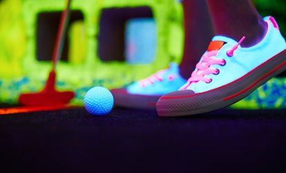 image for Three Rounds of Indoor Glow Golf for Two, Four, or Six at  Glowgolf (Up to 54% Off)