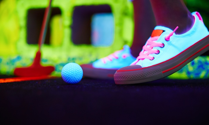 Funtagious Fun Center - Tyngsborough: Black-Light Mini Golf and Ten Arcade Tokens for Two, Four, or Six at Funtagious Fun Center (Up to 56% Off)