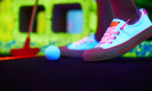 Glowgolf: Mini Golf for Two with Optional Laser Maze Challenge, or Mini Golf for Four or Six at Glowgolf (Up to 56% Off)