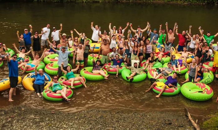 Wahoo's Adventures - Multiple Locations: $32 for an All-Day River Tubing Trip for Two from Wahoo's Adventures ($100 Value)