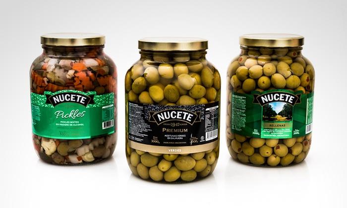 NUCETE: Desde $239 en vez de $340 por aceitunas verdes a elección o pickles en vinagre NUCETE para retirar en sucursal