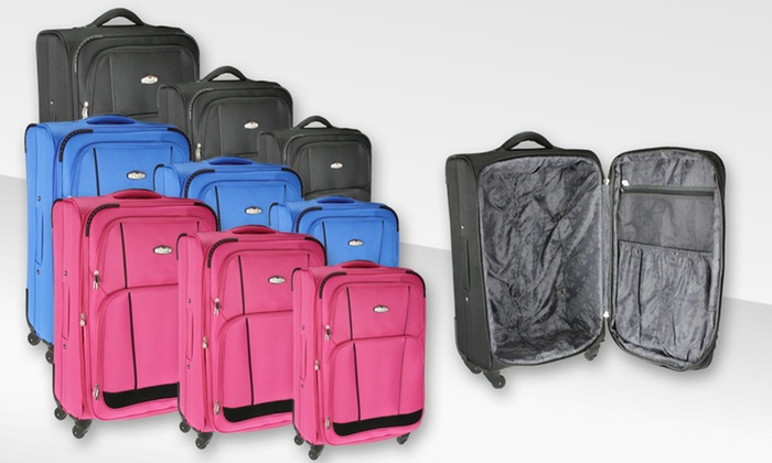 Caiman Three-Piece Luggage Set: $199.99 for a Caiman Three-Piece Luggage Set ($299.99 List Price). Multiple Styles Available. Free Shipping and Returns.