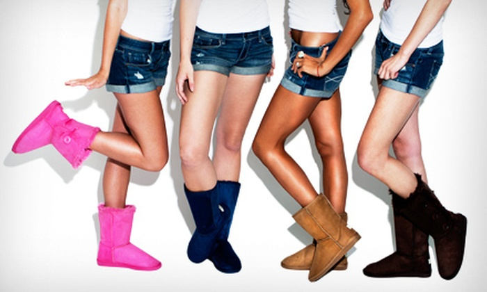 Shoe Scandal: Short, Single-Button, Tall, or Three-Button Faux-Shearling Boots from ShoeScandal.com (Up to 81% Off)