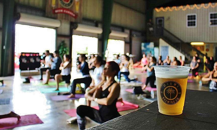 Miami Brewing Company - Everglades: Yoga Class, Beer Tasting, and Brewery Tour for Two on Saturdays at Miami Brewing Company (53% Off)