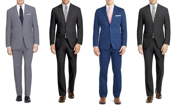 Fellini Men's Classic 2-Piece Single-Breasted Suit: Fellini Men's Classic 2-Piece Single-Breasted Suit