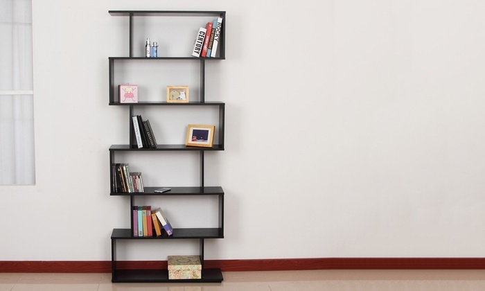 Six-Shelf S-Shaped Bookshelf from AED 539 (Up to 28% Off)