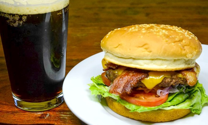 The Power Club Restaurant & Brewery - Auburn, CA: Burgers and Craft Microbrews for Two or Four at The Power Club Restaurant & Brewery (Up to 63% Off)