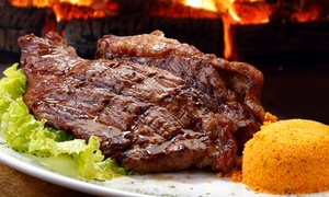 Samba Loca Brazilian Steakhouse: Steaks and South American Cuisine at Samba Loca Brazilian Steakhouse (46% Off). Two Options Available.